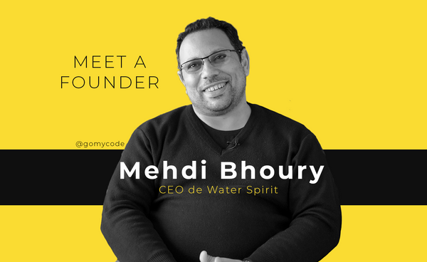 Meet a founder: Mehdi Bhoury - CEO de Water Spirit